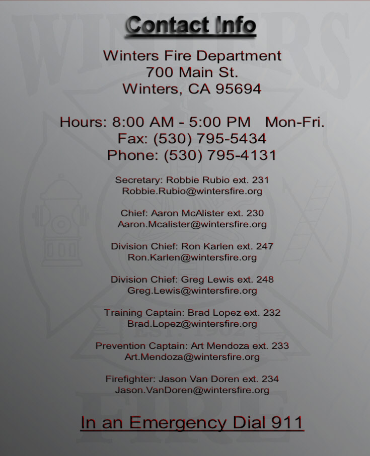 Winters Fire Department